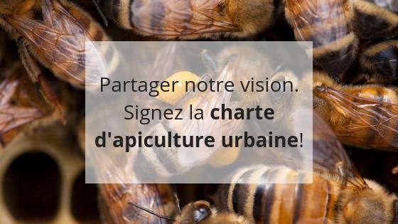 signez la charte d'apiculture urbaine, apiculture responsable, promouvoir la biodiversité, aider les abeilles, apiculteur amateur, varroa,